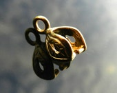 Gold Vermeil over Sterling Silver pinch bail for pendants with Swarowski crystals Nickel free