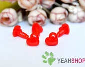 12mmx9mm Red Heart Safety Nose / Plastic Nose - 10 PCS