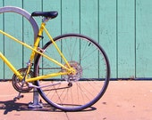 Custom Order For Bri - The Yellow Bicycle Fine Art Photographic Print - 15 x 20 -  Bike Home Decor - Yellow - Red - Teal - Bike Art