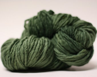 Thick and Thin Yarn Slub TTS Handdyed  Fine Merino 66tts13008 Deep Sage
