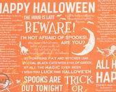 LAST PIECE Witch Hazel Witch Spell in Orange, October Afternoon, Riley Blake Designs, 100% Cotton Fabric, C3931-Orange