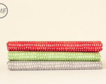 Half Yard Bundle Merry Stitches Tiny Seeds, 3 Pieces, Cori Dantini, Blend Fabrics, 100% Cotton Fabric, 112.104.05