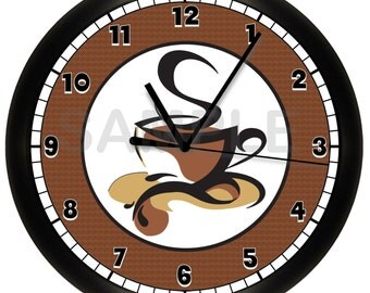 Custom COFFEE SHOP Restaurant Wall Clock Wall Art Decor