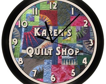 Personalized Quilting Room Wall Clock Sewing Room