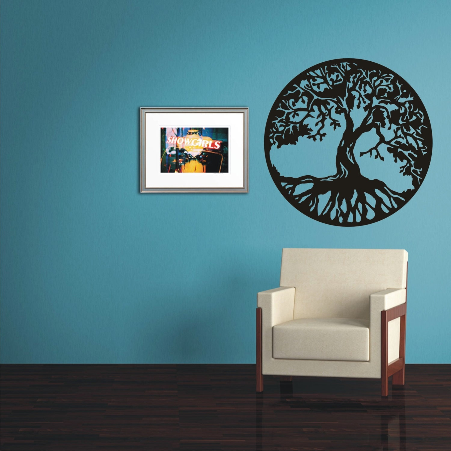 tree of life gift wall sticker vinyl decal wall tattoo by. Black Bedroom Furniture Sets. Home Design Ideas