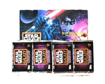 4 Star Wars Galaxy Card Packs by Topps 1993
