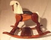 Rocking Horse Handmade Wooden-cypress wood