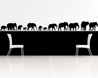 Elephant Family Decal, Elephant Decor, Elephant Nursery, Wall Decal, Kids Room Decor, Elephant Family, Africa Wall Decal, African Decor