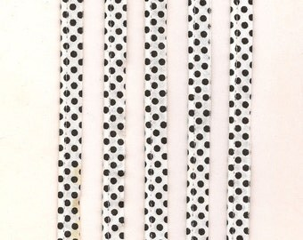 10 yds. Polka Dot Trim, Black Dots on White, Welted Trim, Rock A Billy Polka Dots, Sewing Project