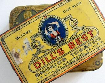 JG Dills Best Vintage Tobacco Tins 2 Richmond Virginia
