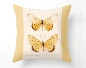 Yellow Butterflies Pillow, Butterfly Home Decor, butterflies, throw pillow, fine art photography, papillon, yellow spring decor, home decor