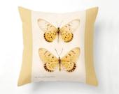Yellow Butterflies Pillow, Butterfly Home Decor, butterflies, throw pillow, fine art photography, papillon, yellow spring decor, home decor