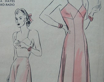 Fabulous Vintage 40's Women's SLIP And PANTIE PATTERN Partially Used