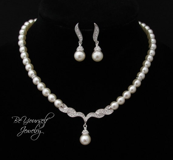 Wedding Jewelry Pearl Bridal Necklace Bride By