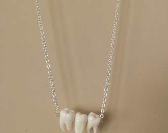Triple Tooth Necklace