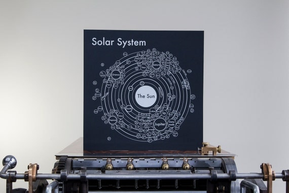 Solar system map cool outer space by archiespress for Outer space poster design