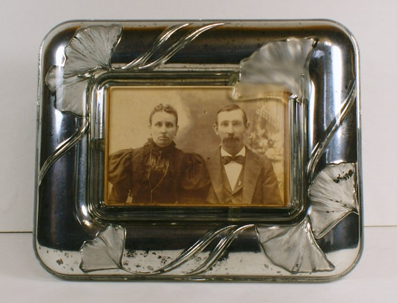 mercury glass style picture frame