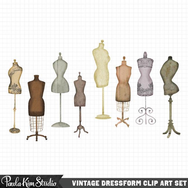 vintage dresses clipart - photo #50