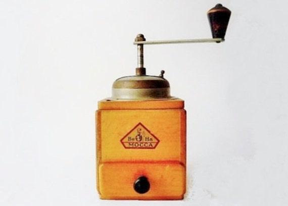 Vintage Coffee Grinder Be Ha Mocca