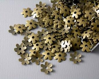 BEADCAP-AB-6.5MM - 30 pcs of 6.5mm Antique Brass Bead Caps
