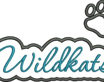 Wildkats Applique Script