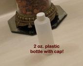 SET of 6: 2 oz Plastic Bottle + LINED CAP (20/410) Natural Color for Bath / Beauty Products, Oils, Lotion