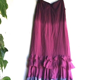 SALE Dark violet orchid purple ombre brand new eco rebecca taylor prom bridesmaid formal party boho wedding graduation dress