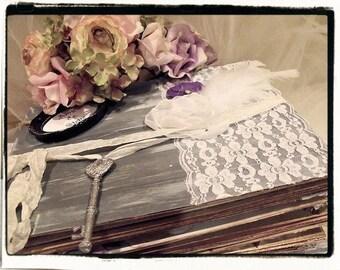 Custom Wedding Guest book / photo booth Album / Rustic