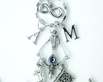 Book Theme Charm Necklace ~ Nephilim ~ Hunters ~ Warlock ~ Magic ~ Character Inspired ~ Paranormal Jewelry - Swag - Fandom - Geekery