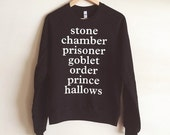 Harry Potter lowercase Sweatshirt - Made in USA - by So Effing Cute