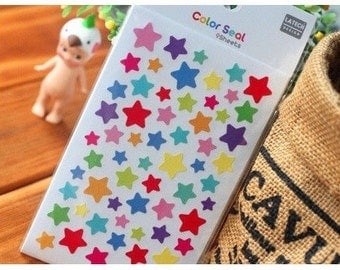 6 Sheets Color Seal Sticker - Star
