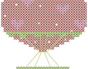 Hot Air Balloon Cross Stitch Pattern/Modern Cross Stitch/Nursery Cross Stitch/Cross Stitch Hot Air Balloon/Baby Girl Cross Stitch/PDF file