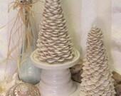 Ivory White CayCay Seashell Trees Set