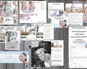 Sweet 15, Sweet 16, and Quinceaneras Marketing Kit - Professional Photography Business Forms, PS templates, Digital Designs,