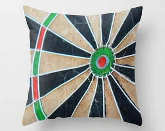 Man Cave Decor, Dart Board, Pillow, Men, Dude Room, Fathers Day