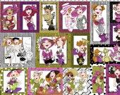 Ladies Tea Fabric Panel by Loralie