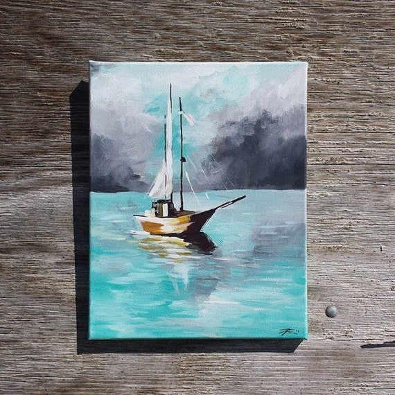 items similar to nautical painting on etsy