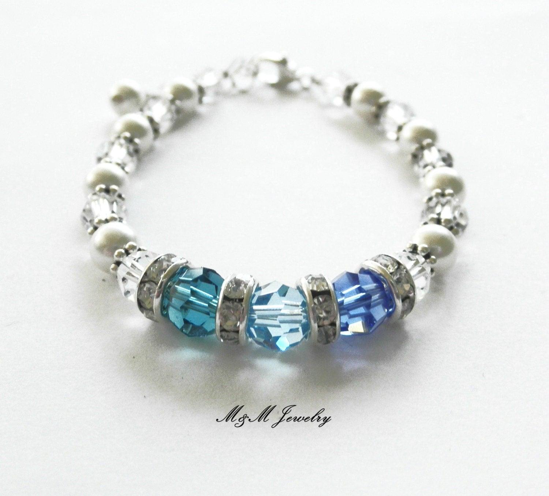 mothers birthstone bracelet family by mommyandmejewelryllc