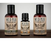 Mens Grooming Kit - Wild Man SHAVING Gift Set - After Shave Shaving Soap and STUD TONIC