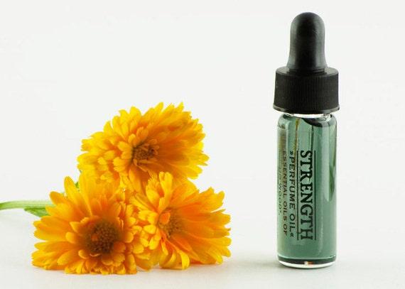 STRENGTH Natural Perfume Oil Trial Size Natural Fragrance - Floral Botanical 3.7 ml / 1 Dram