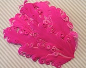 Feather Pad Hot Pink on pink - Curly Feather Pad Two Tone Hot Pink on pink  FP250 - (1 piece)