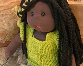 JADE, Waldorf Doll,  Hand made. Upcycled and recycled materials. FREE SHIPPING