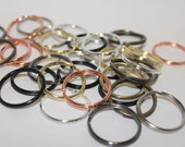 30 Metal Color Split Rings, Key Rings 1 1/4""