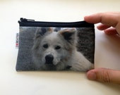 Custom pet portrait wallet gift for pet owners, personalized coin purse with photo of your dog cat pet