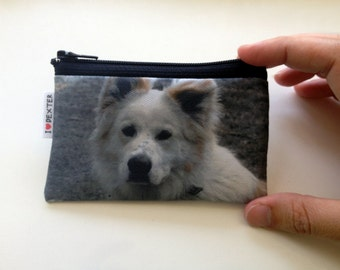 Custom Dog portrait wallet  - Best gift for Dog lovers - pet owners - personalized coin purse with photo of your dog cat pet