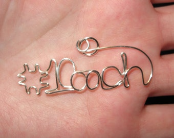 Wire Wrapped #1 Coach MADE to ORDER Pendant