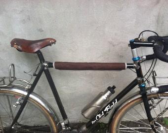 "Brown Grey Top Tube Protector, bike accessory 18"""