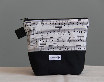 Reusable sandwich bag, reusable snack bag, ecofriendly, zippered, ProCare lined, back to school - Music