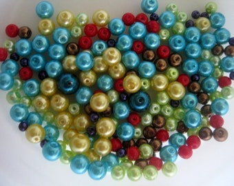 Bead Soup - approx 200 Faux Glass Beads