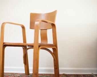 Unique Vintage 1940s Thonet Bent Plywood Chair